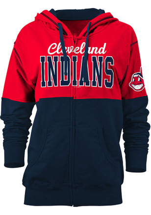 Cleveland Indians Womens Red Athletic Full Zip Jacket