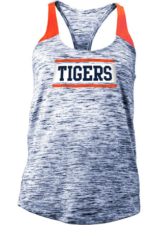 Detroit Tigers Womens Navy Blue Novelty Tank Top