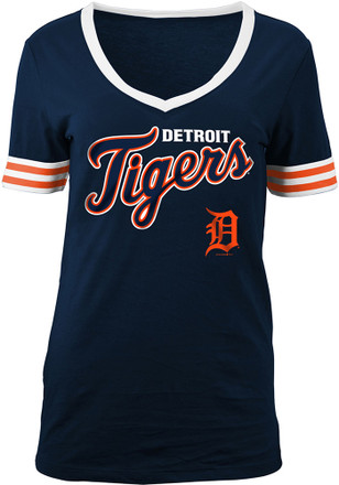Detroit Tigers Womens Navy Blue Opening Night T-Shirt
