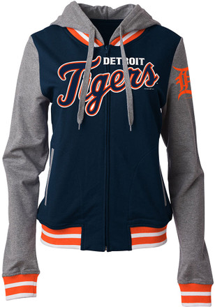 Detroit Tigers Womens Navy Blue Opening Night Full Zip Jacket