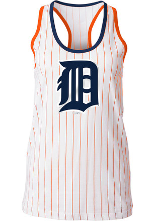 Detroit Tigers Womens White Opening Night Tank Top
