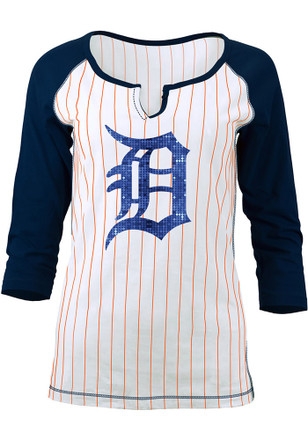 Detroit Tigers Womens White Opening Night Women's V-Neck