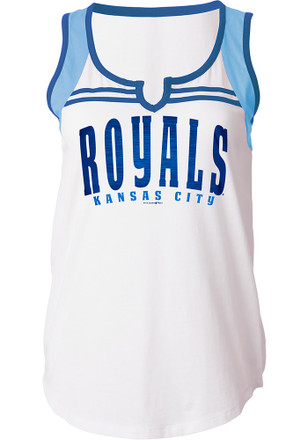 Kansas City Royals Womens White Athletic Tank Top