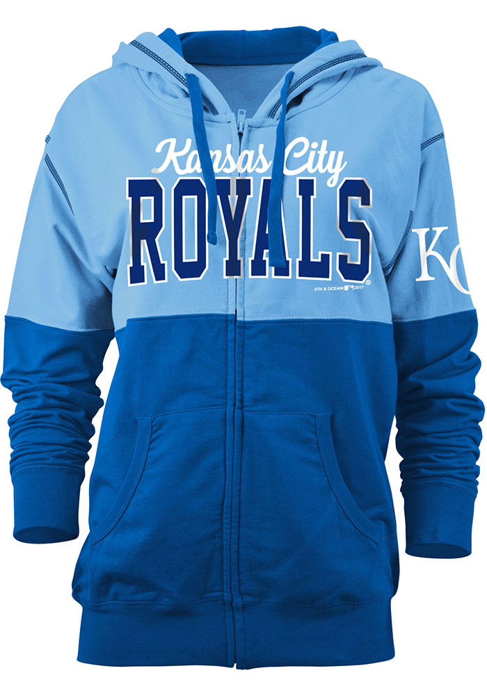 Kansas City Royals Womens Light Blue Athletic Long Sleeve Full Zip Jacket - Image 1