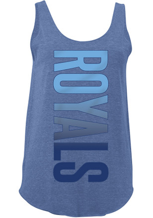 Kansas City Royals Womens Blue Tri-Blend Tank Top