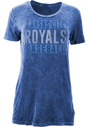 KC Royals Womens Blue Washed T-Shirt