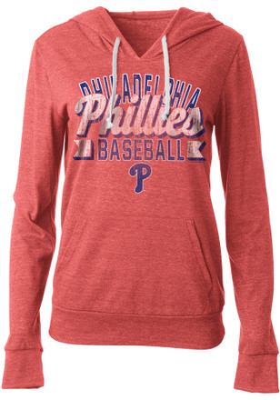 Philadelphia Phillies Womens Red Tri-Blend Hoodie