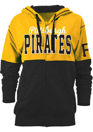 Pitt Pirates Womens Gold Athletic Full Zip Jacket