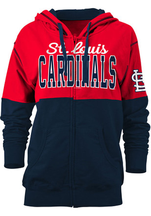 STL Cardinals Womens Red Athletic Full Zip Jacket