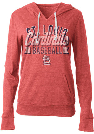 St Louis Cardinals Womens Red Tri-Blend Hoodie