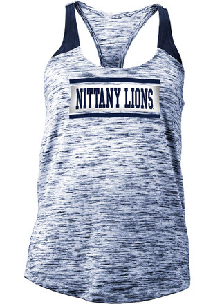 Penn State Nittany Lions Womens Navy Blue Space Dye Tank Top