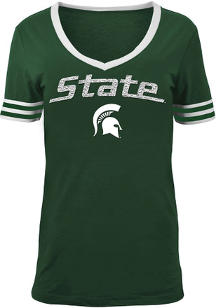 Michigan State Spartans Womens Green Opening Night T-Shirt
