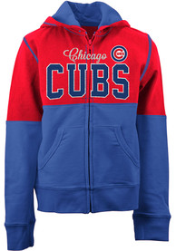 Chicago Cubs Girls Color Block Full Zip Jacket - Red