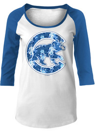 Chicago Cubs Womens Tonal White Scoop Neck Tee
