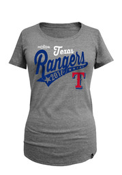 Texas Rangers Womens Grey Playoff Participant Scoop