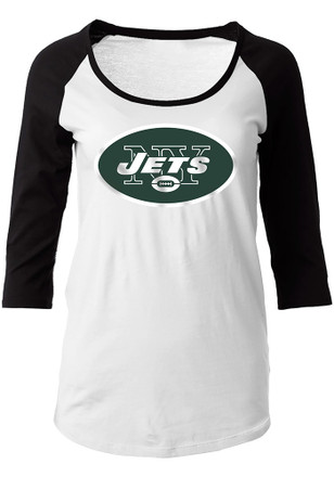 New York Jets Womens Primary Logo White Scoop Neck Tee a783f2b35b