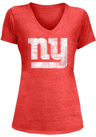 New York Giants Womens Red Triblend T-Shirt