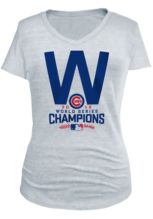 Chicago Cubs Womens White W Flag T-Shirt