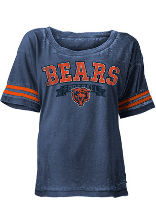 Chicago Bears Womens Navy Blue Washes Scoop