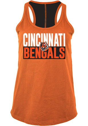 Cincinnati Bengals Womens Orange Training Camp Tank Top