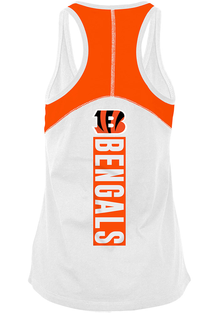 Cincinnati Bengals Womens White Training Camp Tank Top - Image 1