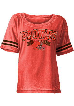 Cleveland Browns Womens Orange Washes Scoop