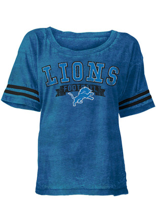 Detroit Lions Womens Blue Washes Scoop