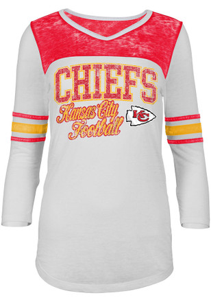 KC Chiefs Womens White Washes T-Shirt