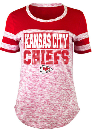 Kansas City Chiefs Womens Athletic Red Scoop T-Shirt