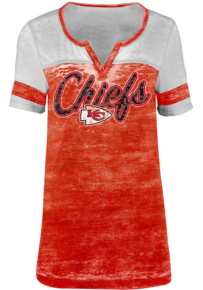 Kansas city chiefs womens red washes scoop t shirt 88881830 for Kansas city chiefs tee shirts