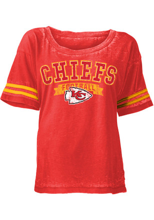 Kansas City Chiefs Womens Red Washes Scoop