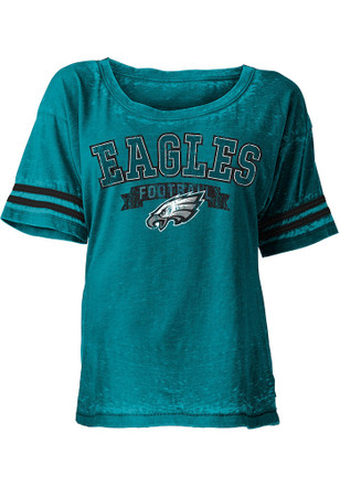 Philadelphia Eagles Womens Teal Washes Scoop