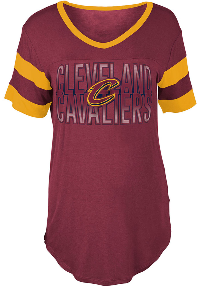 Cleveland Cavaliers Womens Red Training Camp V-Neck - Image 1