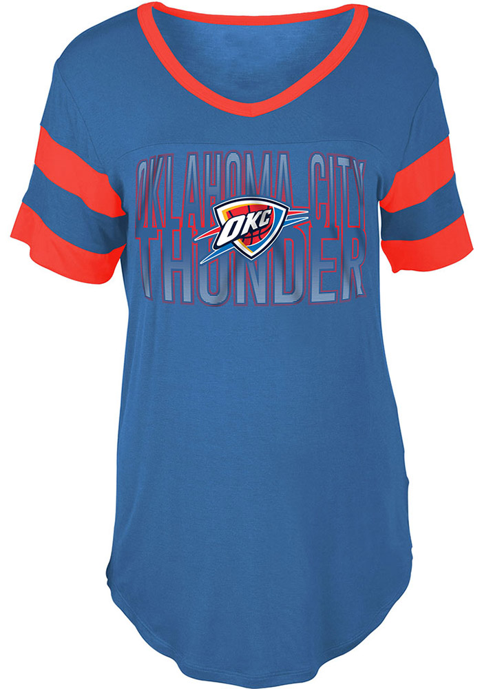 70eff30aa Oklahoma City Thunder Womens Blue Training Camp T-Shirt