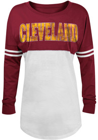 Cleveland Cavaliers Womens Athletic Red LS Tee