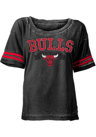 Chicago Bulls Womens Black Washes Scoop