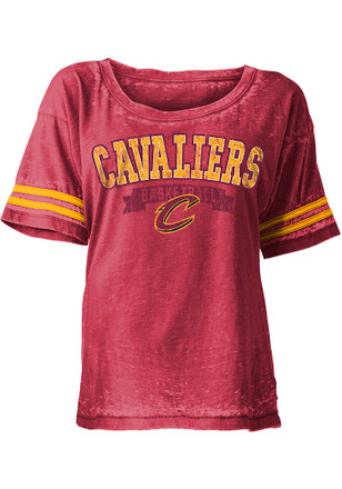 Cleveland Cavaliers Womens Red Washes Scoop
