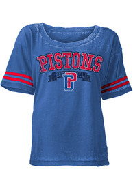 Detroit Pistons Womens Blue Washes Scoop
