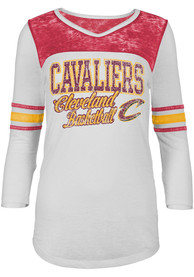Cleveland Cavaliers Womens White Washes T-Shirt