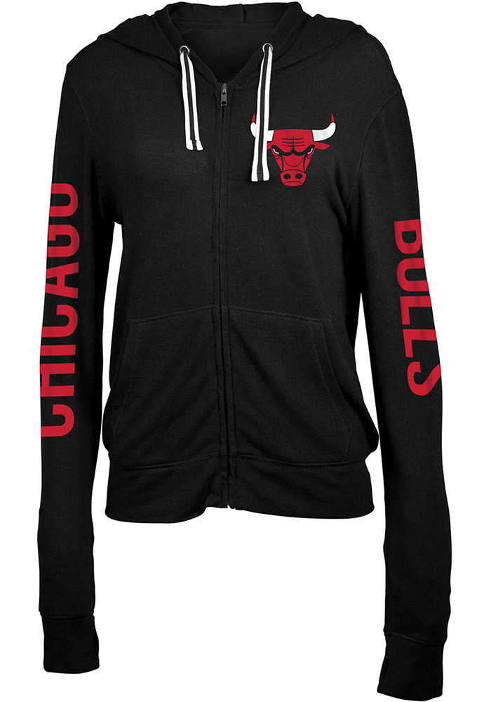 Chicago Bulls Womens Black Novelty Full Zip Jacket