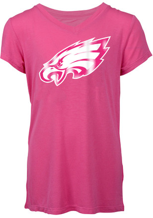 Philadelphia Eagles Girls Pink Foil T-Shirt
