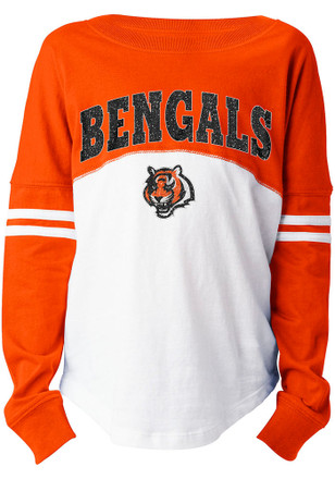 Cincinnati Bengals Girls Black Varsity Long Sleeve T-shirt