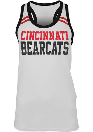 Cincinnati Bearcats Womens White Slub Sequin Tank Top