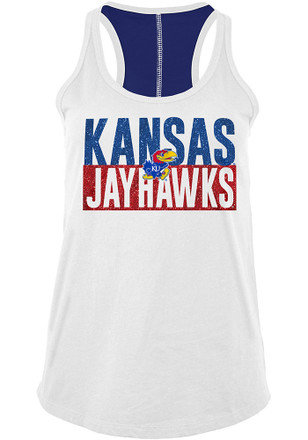 Kansas Jayhawks Womens White Training Camp Tank Top