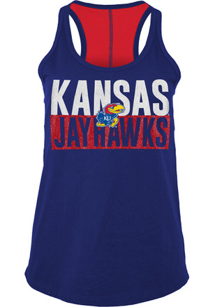Kansas Jayhawks Womens Blue Training Camp Tank Top