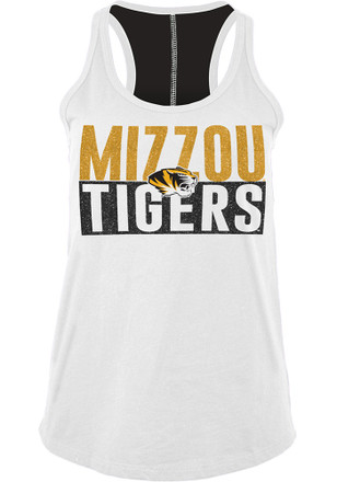 Missouri Tigers Womens White Training Camp Tank Top