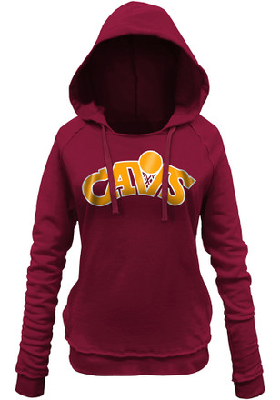 Cleveland Cavaliers Womens Red Hardwood Classic Hoodie