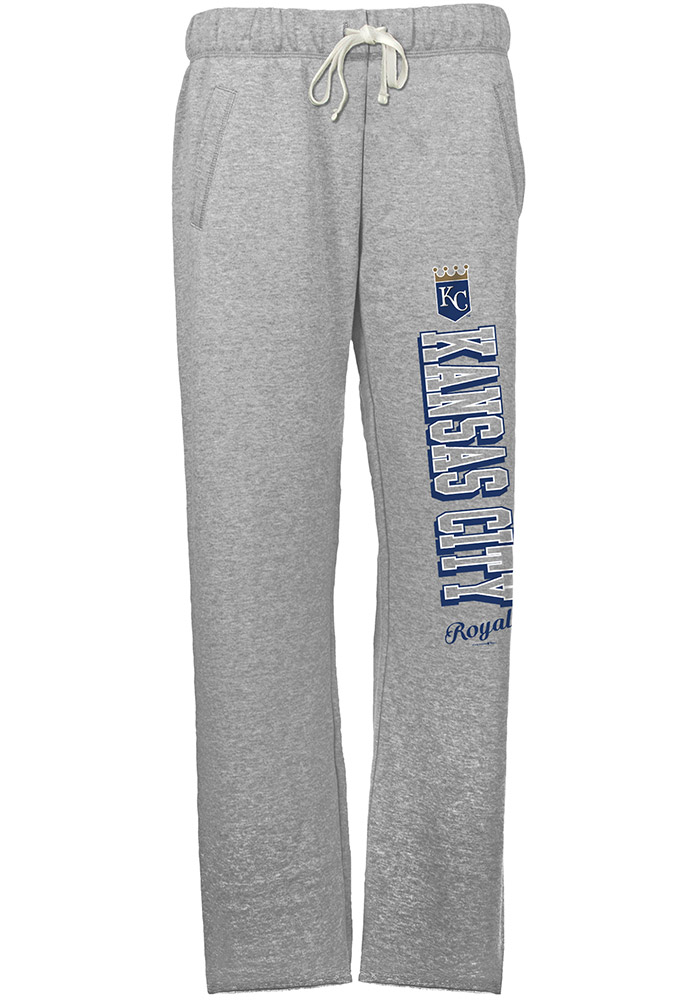 Kansas City Royals Womens French Terry Grey Sweatpants - Image 1
