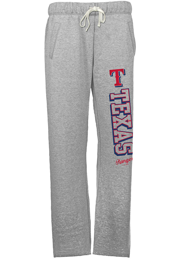 Texas Rangers Womens French Terry Grey Sweatpants - Image 1