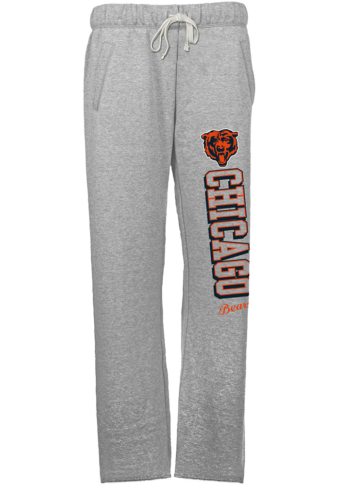 Chicago Bears Womens French Terry Grey Sweatpants - Image 1